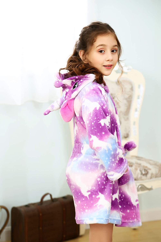 rdwod gift Unicorn Hooded Bathrobe Sleepwear 3D Unicorn Hooded Design Best Unicorn Toys and Gifts
