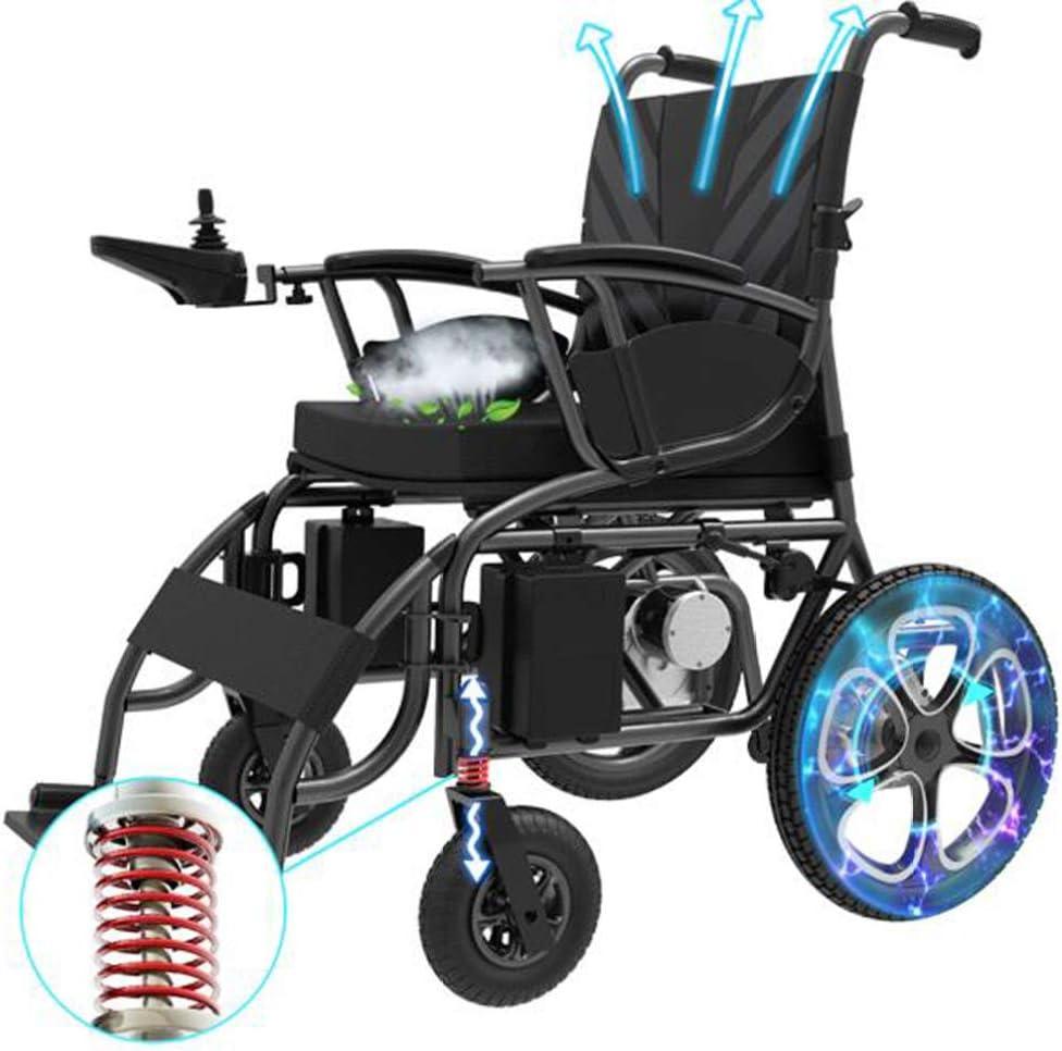 YOLL Silla De Ruedas Inteligente Silla De Ruedas Eléctrica Power Chair Plegable Wheelchair Ligera De La Aleación De Aluminio Silla,conduzca con Potencia O Use como Silla De Ruedas Manual a