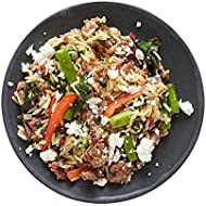 Amazon Meal Kits, Orzo Risotto with Pork, Feta, & Ruby Chard, Serves 2
