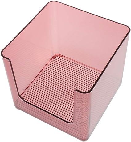 Organizador de Baño de Plástico para Accesorios de Ducha Caja para Discos Algodón - rojo: Amazon.es: Belleza