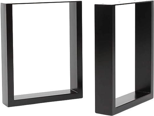 HLC] 2 x patas industriales de mesa cuadradas: acero acondicionado ...