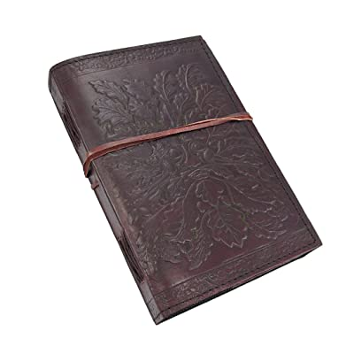 Embossed Leather Greenman 120 Page Unlined Dream Book: Home & Kitchen