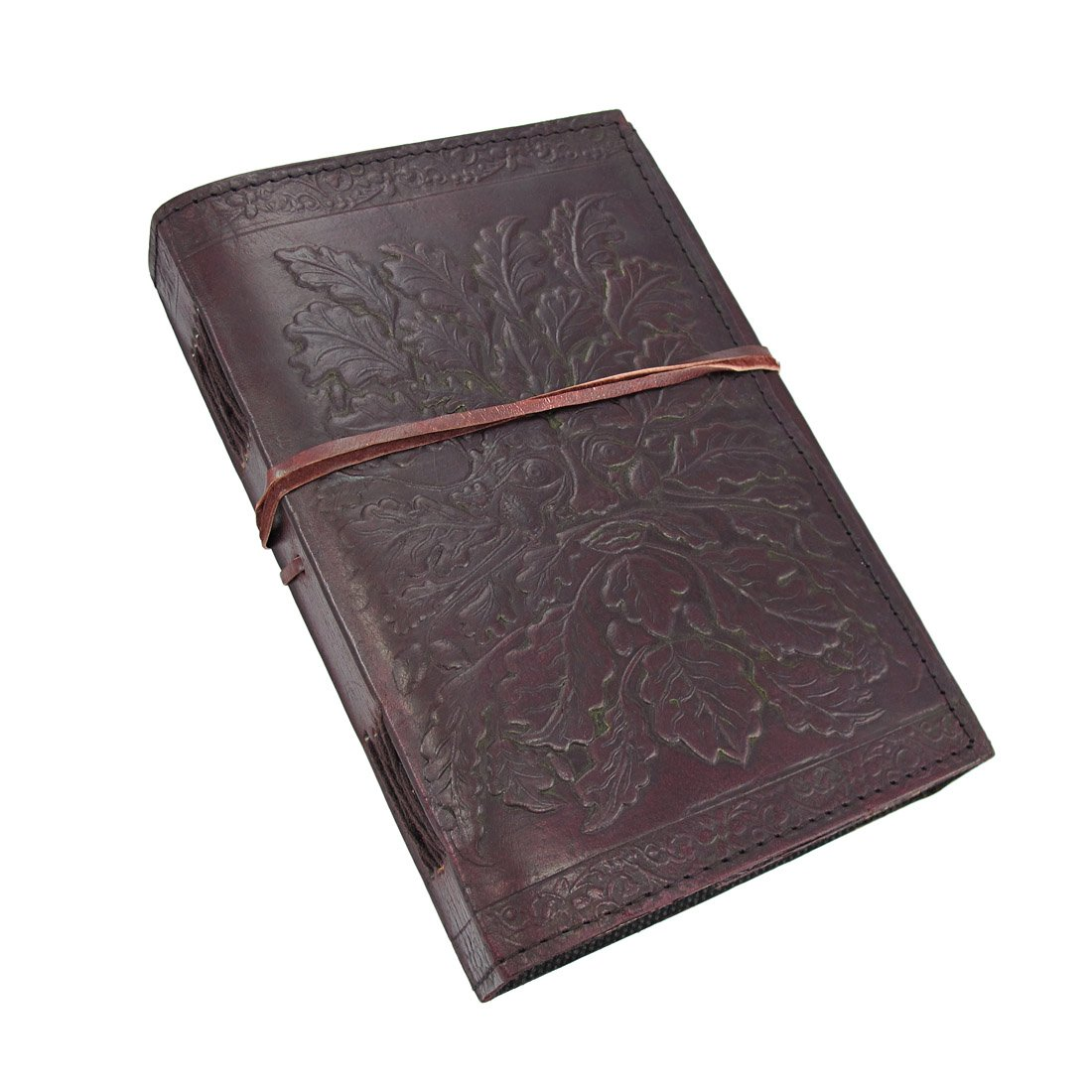 Embossed Leather Greenman Journal 120 Page Unlined Dream Book