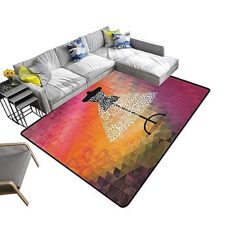 Alfombra para Piso con diseño Personalizado, Color Amarillo ...