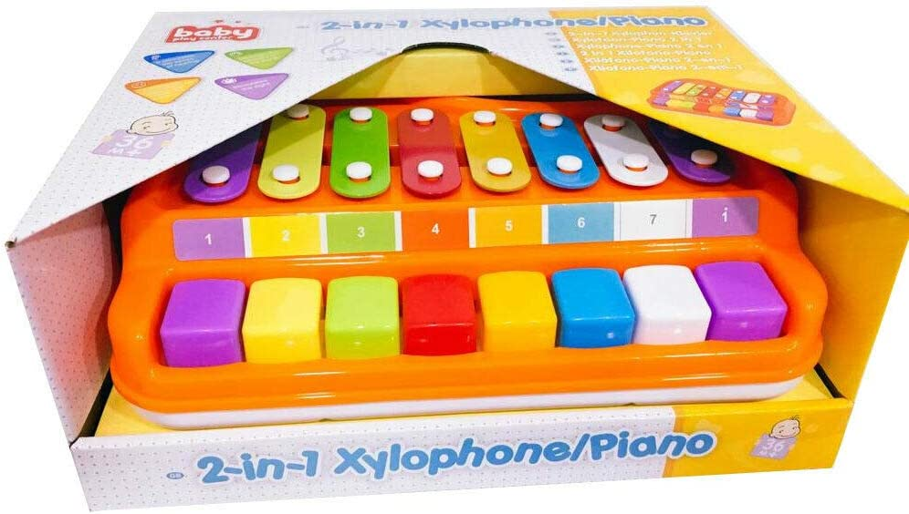 X-CON 2 IN 1 PIANO XYLOPHONE EDUCATIONAL MUSICAL INSTRUMENTS TOY FOR BABY TODDLER