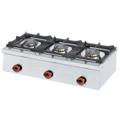 Macfrin 4413 Cocina de Sobremesa a Gas 3 Fuegos 13.5 Kw ...