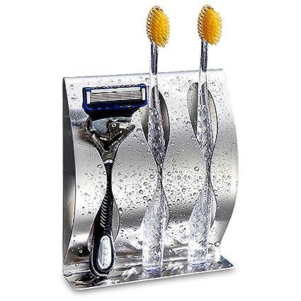 Soporte para cepillos de dientes montado en la pared para maquinilla de afeitar/adhesivo acero