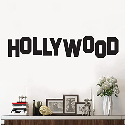 Amazon Pulse Vinyl Hollywood Sign Wall Art Decal 6 X 30 Home Decoration