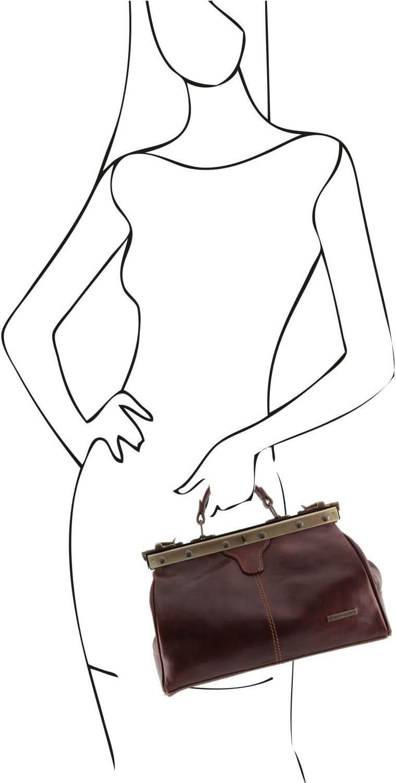 Tuscany Leather - Michelangelo - Borsa medico in pelle Testa di Moro - TL10038/5 Testa Di Moro