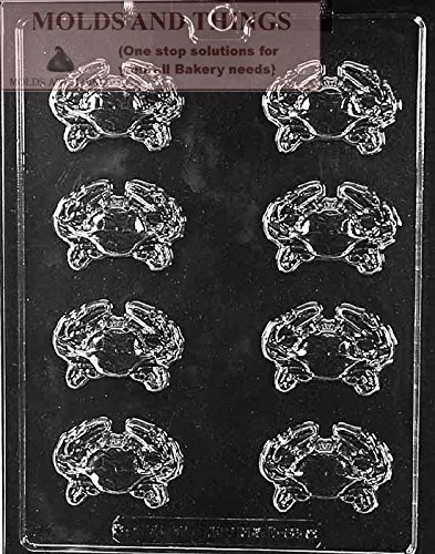 CRAB PIECES Chocolate Candy Mold With © Candy Making Instruction -set of 2