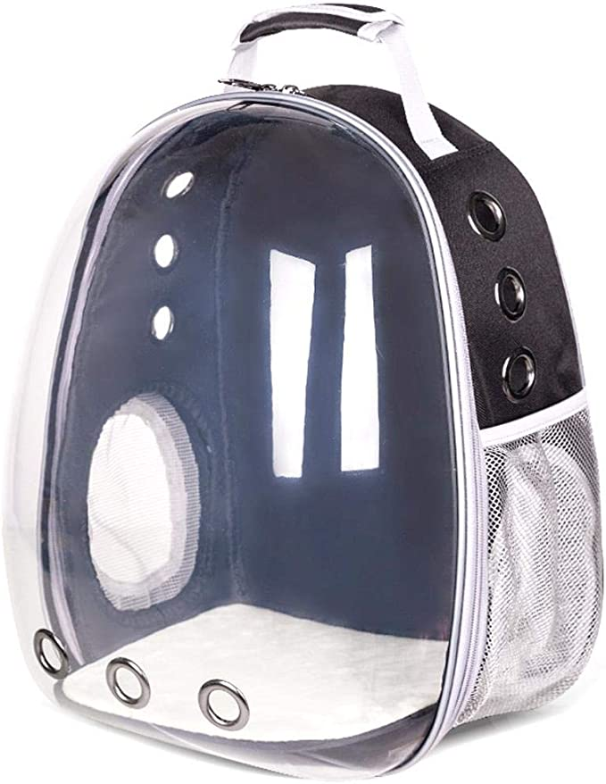 FOONEE Pet Bubble Backpack, Travel Cat Bag Pet Transparent Backpack Astronaut Panoramic Transparent Pet Bubble Traveler Knapsack with Window For Cats Petite Dogs & Small Animals, Airline-Approved: Amazon.es: Hogar