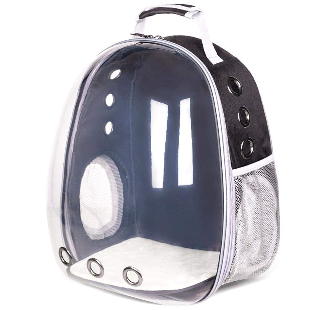 Black Volwco Pet Carrier Backpack, Transparent Astronaut Space Capsule Bubble Carrier Dome Backpack for Cat Kitty Doggie Puppy, Breathable and Airline-Approved, Designed for Travel, Hiking & Outdoor Use