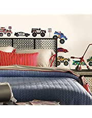 RoomMates SPD0004SCS Trucks Peel and Stick Wall Decals, 1-Pack