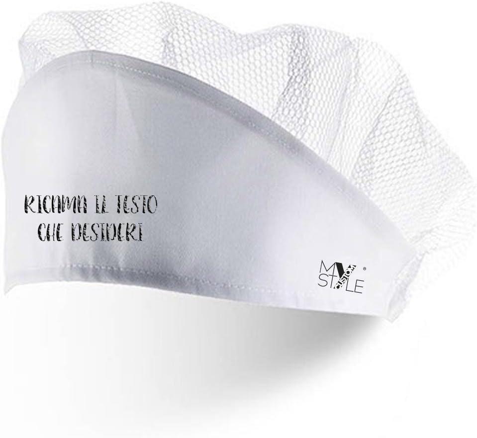 in Poliestere Ricamato My Custom Style Cappello a Cuffia Bianco con Rete