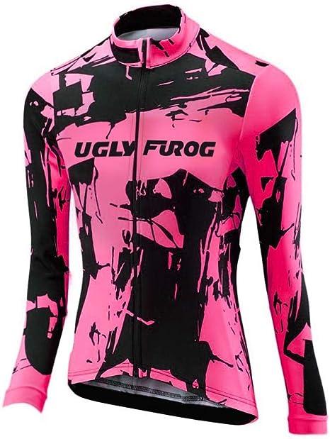 Uglyfrog Ciclismo Abbigliamento Donna Termico Vello Inverno//Autumn da Bici Manica Lunga e Pantaloni Completo Confortevole Anti-Freddo ZRWX01