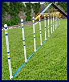 Dog Agility Stick in the Ground Outdoor Weave Poles - Set of 12