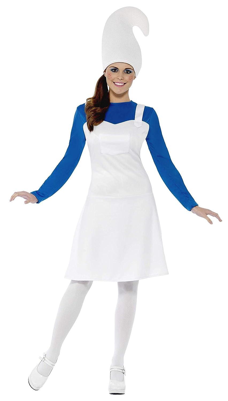 Smiffys, Damen Gartenzwerg Kostüm, Kleid und Hut, Größe: L, 23391