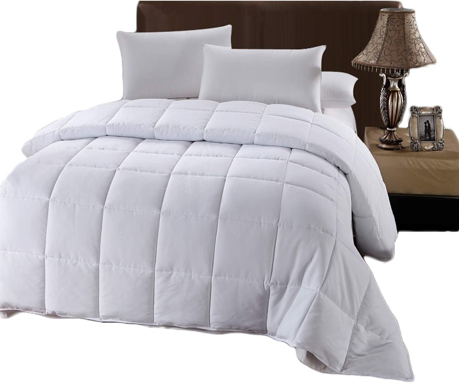 Amazon Com Royal Hotel Comforter White Down Alternative Queen Quilted Duvet Insert Hypoallergenic All Season Comforter With Corner Tabs Hotel Down Alternative Plush Fill Queen Home Kitchen