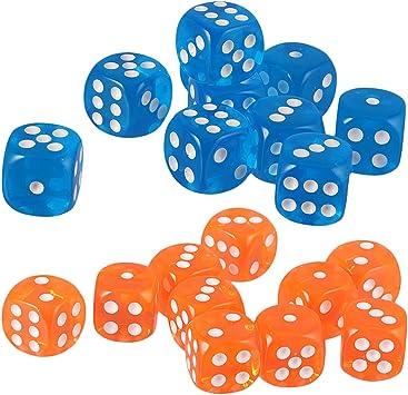SM SunniMix D6 Dados de Puntos Azul Naranja para Juego de Mesa Table Games: Amazon.es: Juguetes y juegos