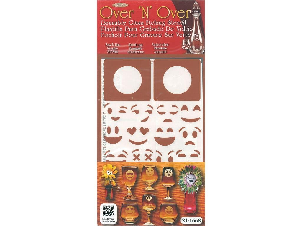 Armour Emoji Faces Over N Over Stencil Armour Products ARM21.1668