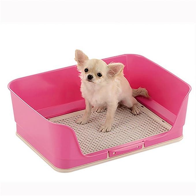 Caja De Arena De La Bandeja De Entrenamiento De La Bandeja De Entrenamiento del PIS del Inodoro Cercado Plástico Portátil para El Perrito del Perro,Brown: ...