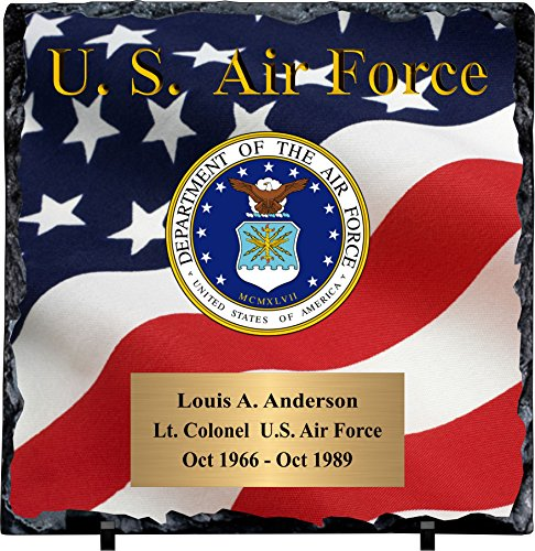 Slate Award Plaque - Personalized Air Force Slate Plaque