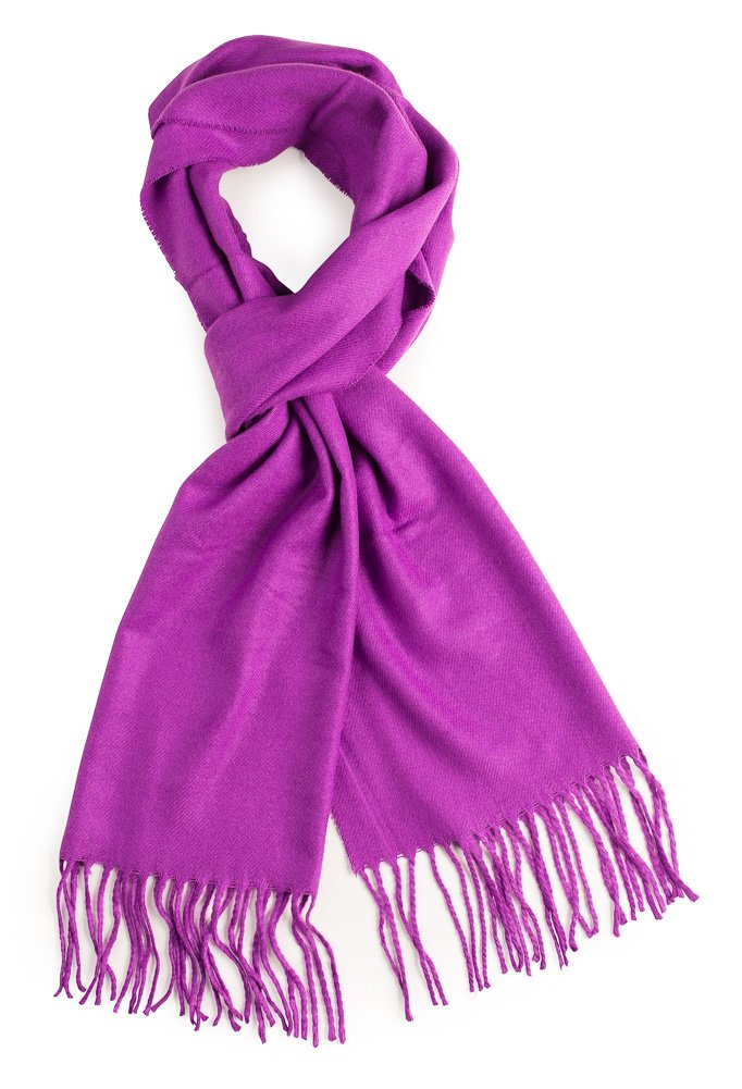 Plum Feathers Super Soft Luxurious Cashmere Feel Winter Scarf (Purple)
