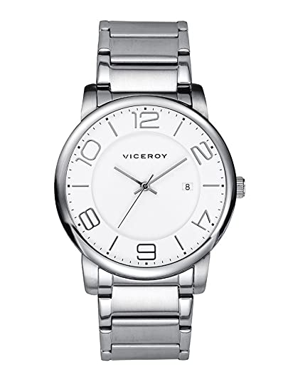 Viceroy Cro 46543-05- Reloj de caballero de cuarzo, correa de acero y caja de acero: Amazon.es: Relojes