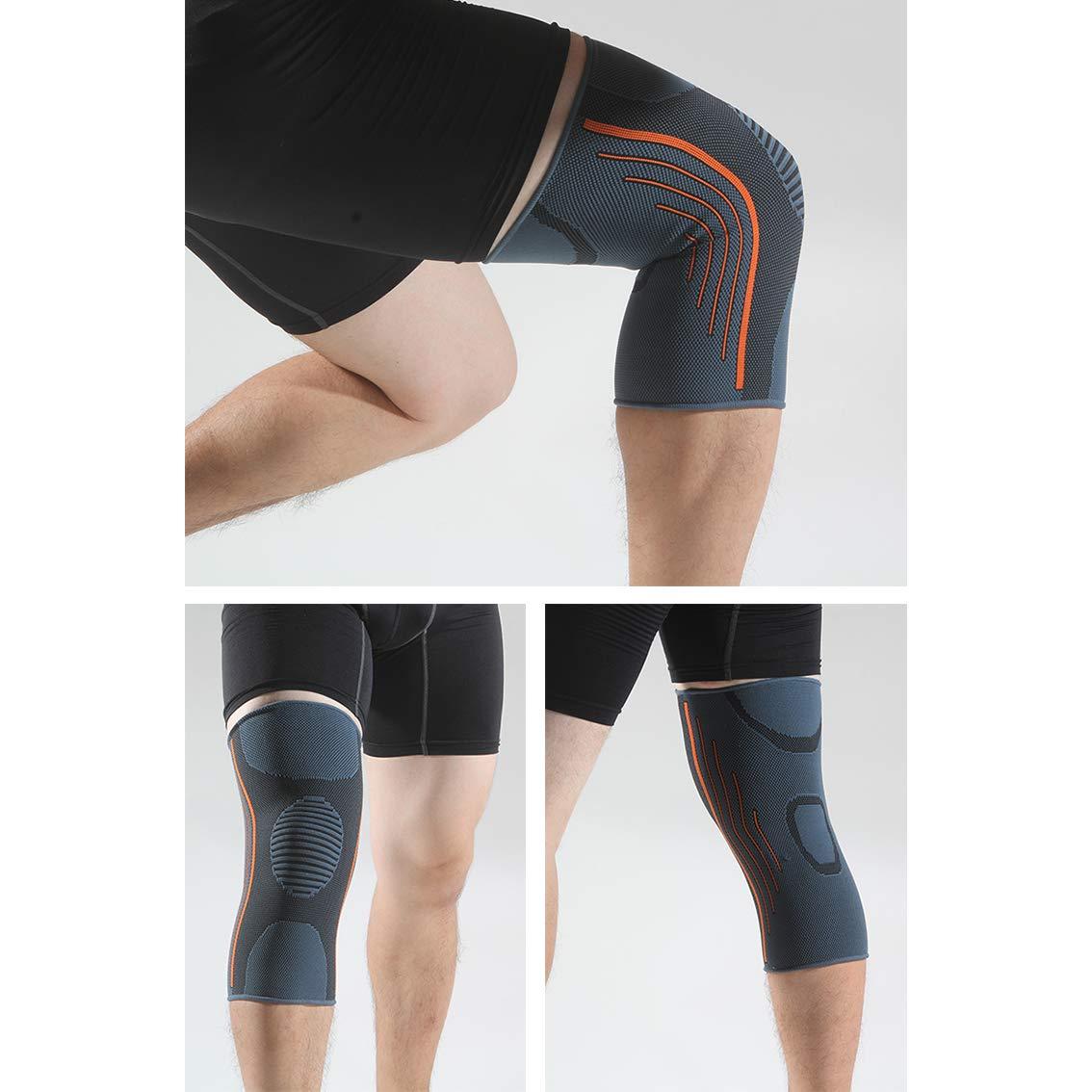 Protection pour course /à pied Genouill/ère de Compression pour hommes /& femmes Rmolitty Genouillere Ligamentaire sports soulagement des douleurs de rotule et darticulations