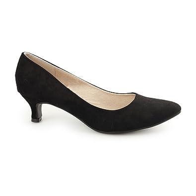 Comfort PlusTexaswomens - Zapatos de tacón chica mujer , color negro, talla 35.5