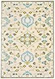 Feizy Rugs Saphir Mah Collection Imported Area Rug, 9'8'' x 12'7'', Cream/Spa Blue