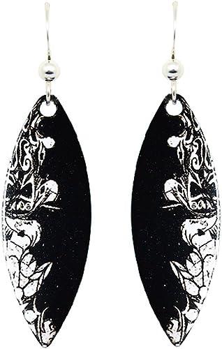 Tribal Earrings by dears Non-Tarnish Sterling Silver French Hook Ear Wire
