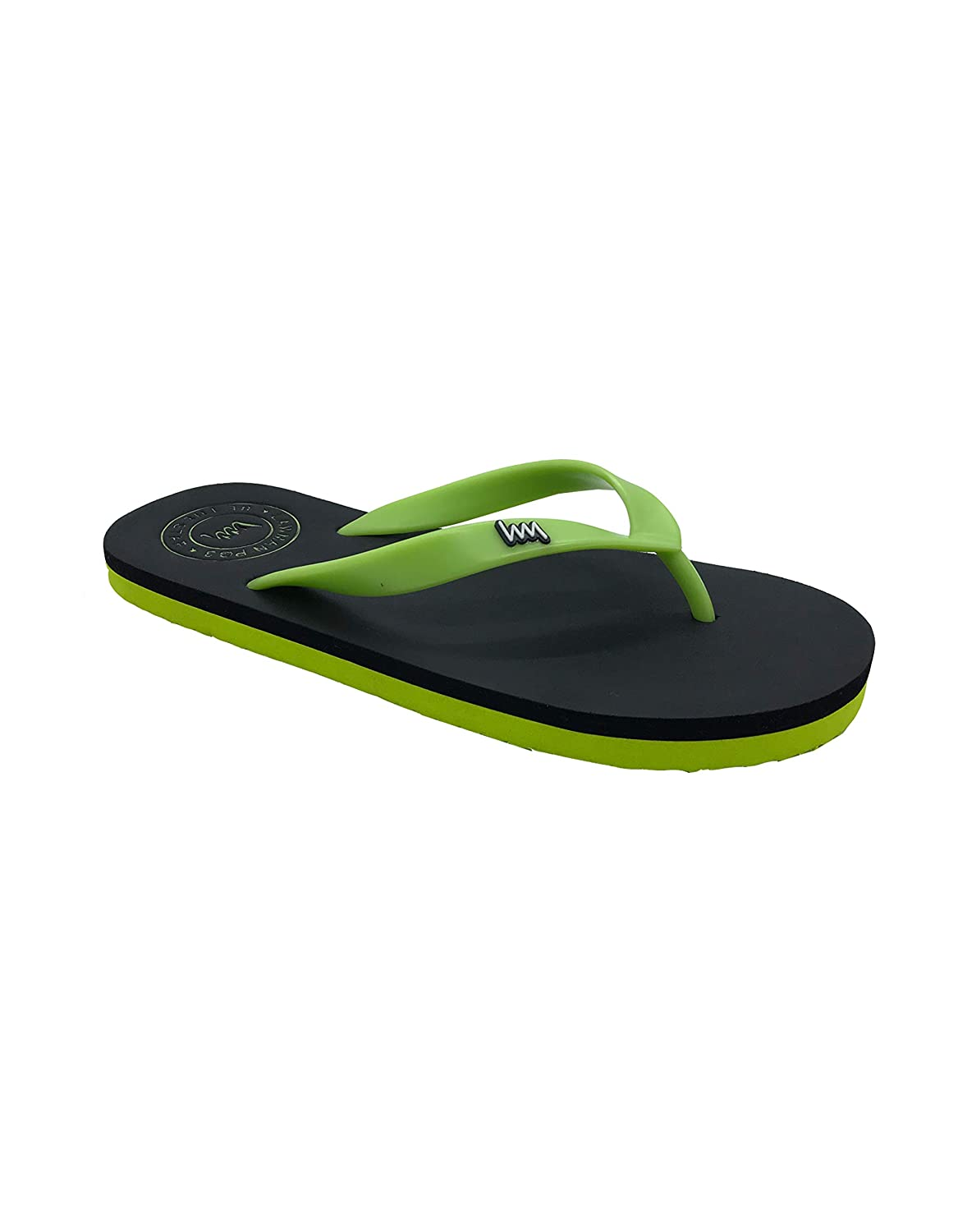 e2876e674 LAWMAN PG3 Men s Black and Green Fur Flip-Flops and House Slippers (10)   Buy Online at Low Prices in India - Amazon.in