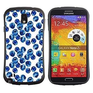 Suave TPU GEL Carcasa Funda Silicona Blando Estuche Caso de protección (para) Samsung Note 3 / CECELL Phone case / / Blueberry Watercolor Porcelain Blue /
