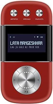 Amazon Com Saregama Carvaan Go 2 0 3000 Pre Loaded Retro Hindi Songs Salsa Red Mp3 Players Accessories