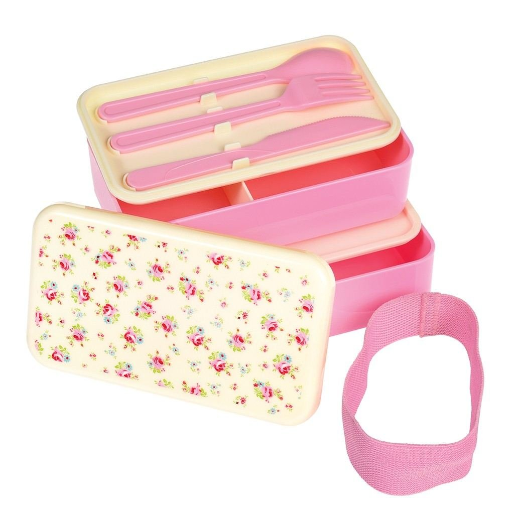 Bento Box L: 18cm Petite Rose B: 10cm Lunch Box H: 10,5cm Large