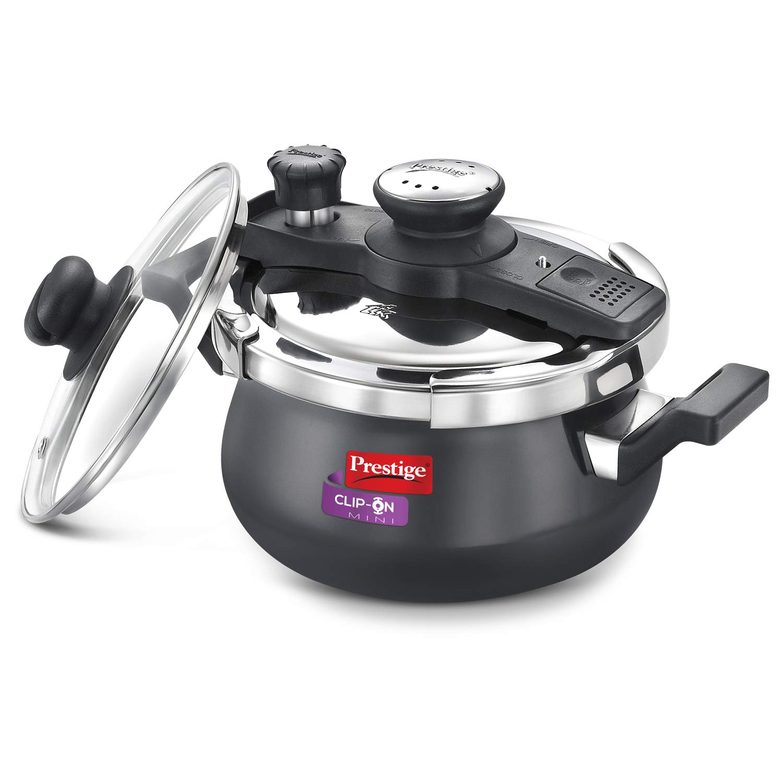 Prestige PRCHAH3G handi pressure cooker 3 liter, Black