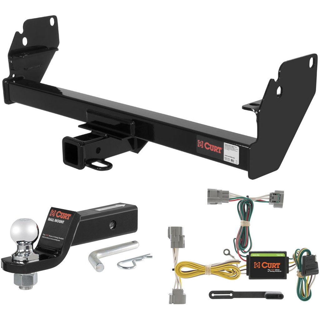 CURT Class 3 Trailer Hitch Tow Package with 2'' Ball for 2005-2015 Toyota Tacoma