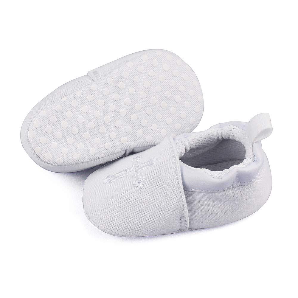 Baby Boys Girls Premium Soft Sole Christening Baptism Church Cross Slipper Crib Shoes, 3-6 Months by Estamico (Image #8)