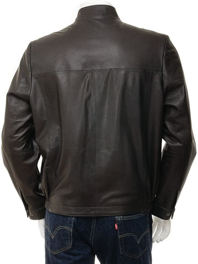 37 crafat Men Leather Jacket Black Slim Fit Biker Motorcycle Lamskin Jacket