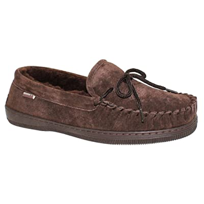 Men's Suede Classic Moccasin Slippers   Slippers