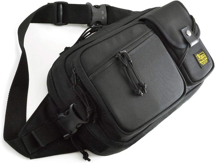 バンナイズ (VanNuys) フラップ タイプ (簡易 ロック 機能 付き) の 使いやすさ と ファスナー の 安心感 の 両方 を 備えた 斜め掛け ショルダー (バリスティック ナイロン 製 : ブラック)