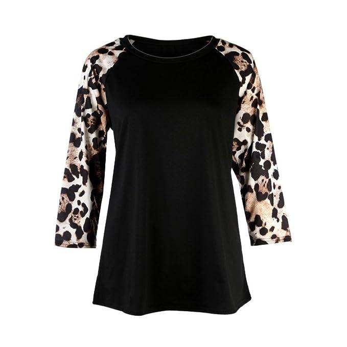 Camisetas y tops -SHOBDW Blusas y Camisas de Mujer 3/4 manga larga Tallas