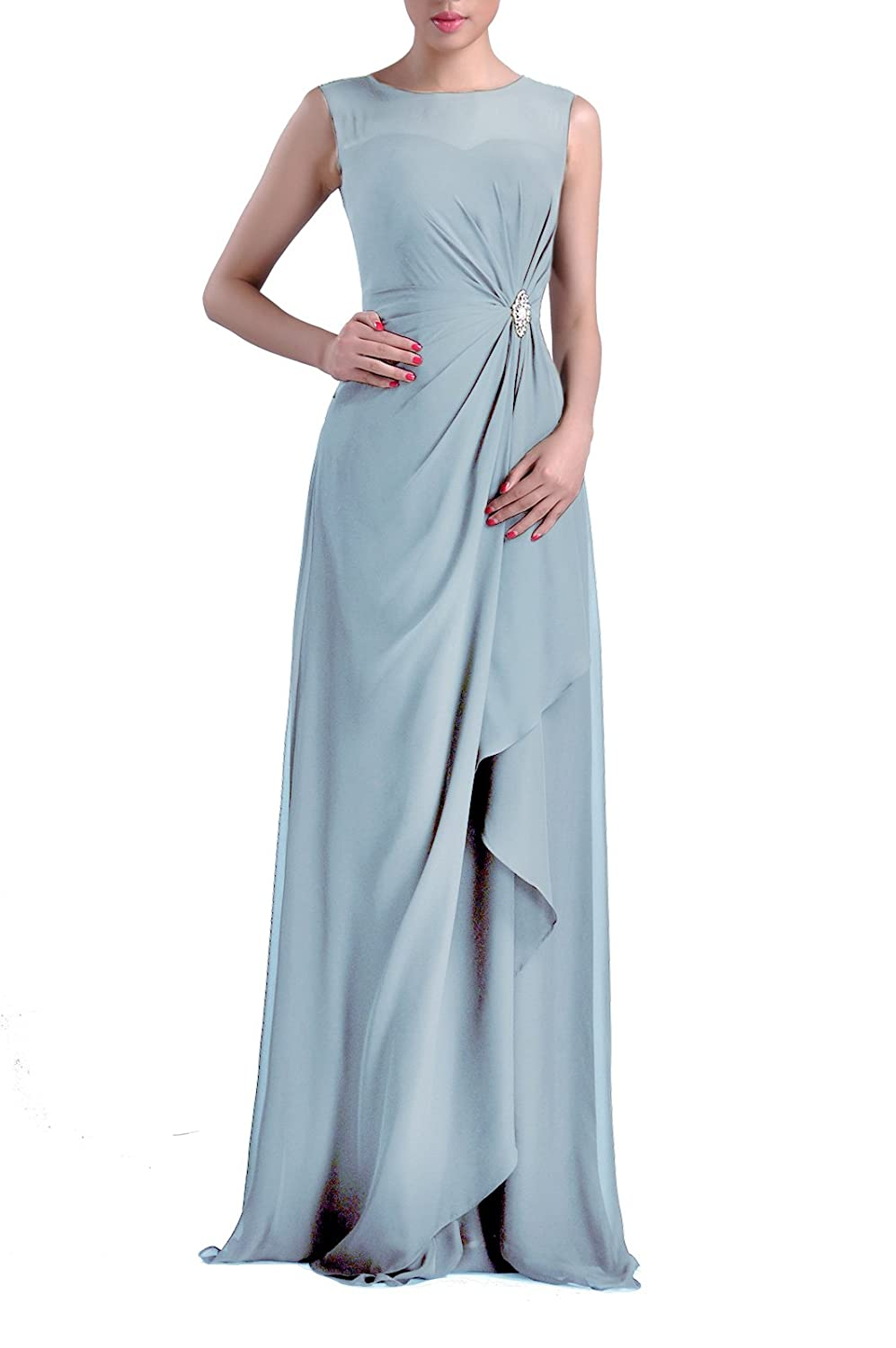 Formal Bridesmaid Dress Chiffon Special Occasion Long Mother of the ...