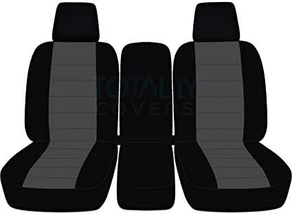 Peachy 2004 2008 Ford F 150 Two Tone Truck Seat Covers Front 40 20 40 Split Bench W Center Console Armrest W Wo Integrated Seat Belts Black Charcoal Caraccident5 Cool Chair Designs And Ideas Caraccident5Info