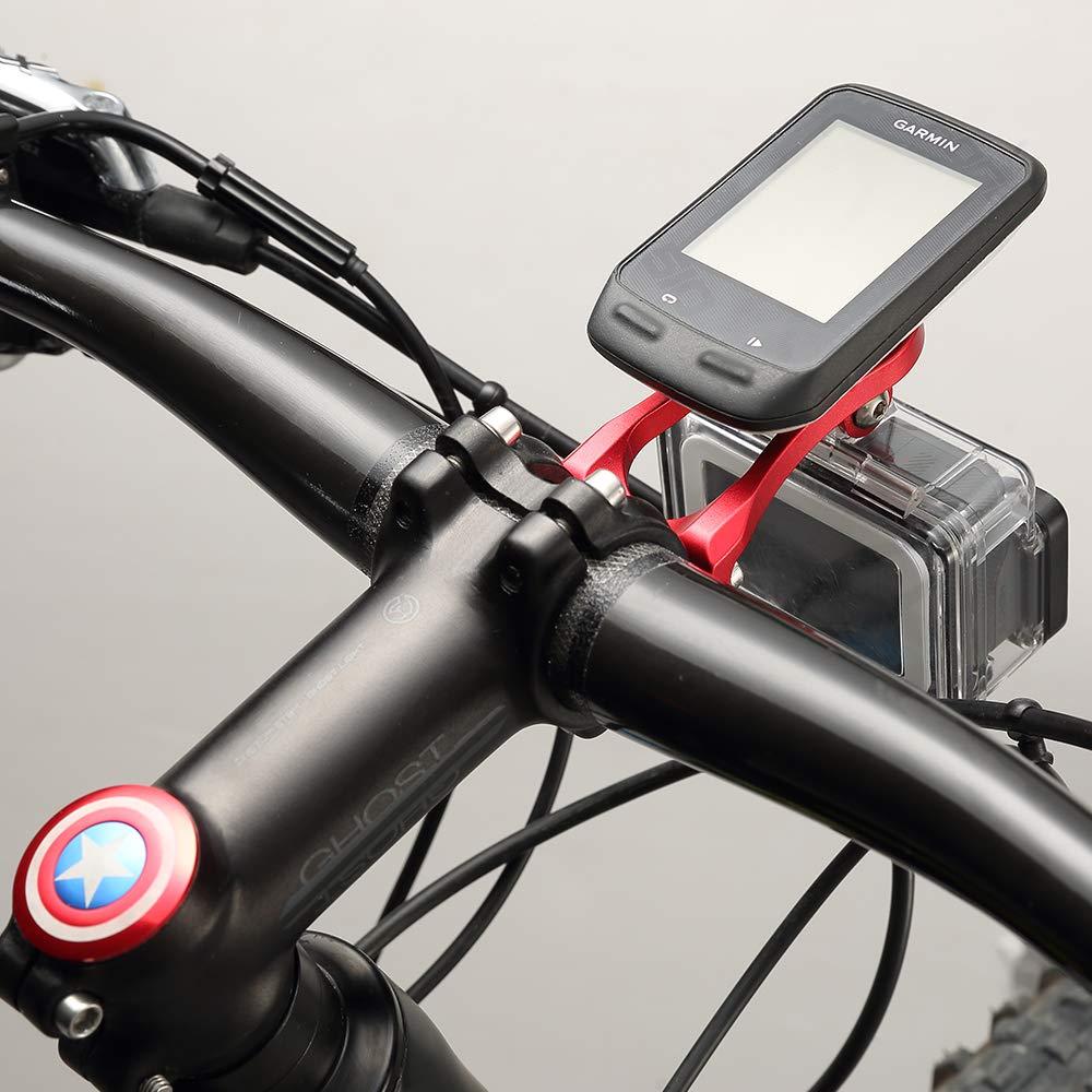 Corki Out-Front Mount for Garmin Edge Garmin GoPro Combo Mount,Garmin Edge Mount,Garmin Bike Mount for Edge 130 200 500 510 520 810 820 1000 1030 Pro Black