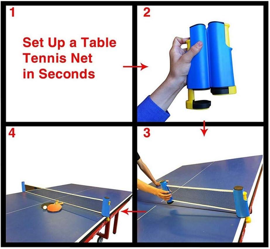 1 Rete Retrattile Ping Pong Paddle Racchetta inversa Ping-Pong Tennis per Adulti Bambini Famiglia//casa Interno//Adatto a Scuola HXC Set da Ping Pong,4 Racchette 8 Palline da Ping Pong