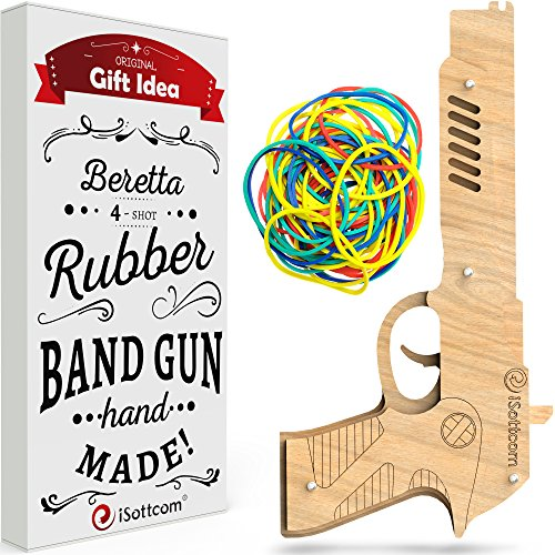 Rubber Band Gun - Toy Gun Beretta by iSottcom - Boys Toys for Outdoor Indoor...