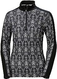 Helly Hansen Womens HH LIFA Merino Wool Graphic Print 1/2 Zip 2-Layer Long-Sleeve Thermal Baselayer Top