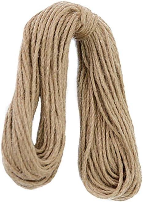 SWB Rope 30M Poderosos Cuerdas de cáñamo Cuerda de cáñamo Jardín de Yute Arte de artesanía Cuerda de cáñamo Regalo Empaque Jardín: Amazon.es: Hogar